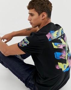 Длинная футболка с принтом на спине Le Breve - Черный