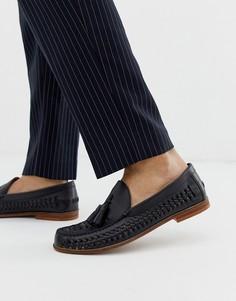 Черные кожаные плетеные туфли с кисточками KG by Kurt Geiger - Черный