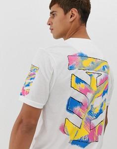 Длинная футболка с принтом на спине Le Breve - Белый