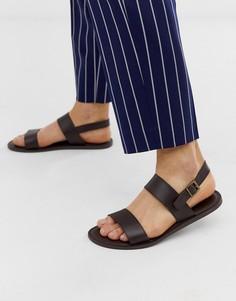 Светло-коричневые кожаные сандалии с пряжкой KG by Kurt Geiger - Коричневый