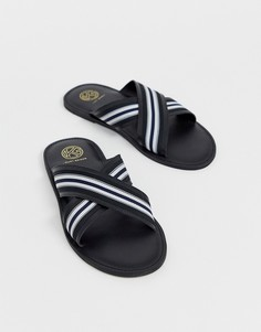Черные сандалии с перекрестными ремешками KG by Kurt Geiger - Черный