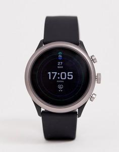 Смарт-часы с силиконовым ремешком Fossil FTW4019 Sport - 43 мм - Черный