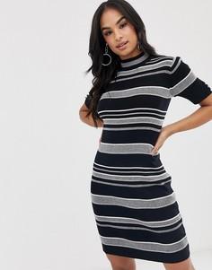 Платье мини в полоску Lipsy - Черный