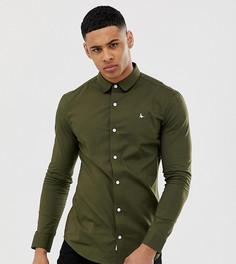 Приталенная рубашка оливкового цвета из поплина Jack Wills эксклюзивно для ASOS - Зеленый
