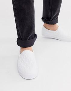 Белые стеганые кроссовки-слипоны ASOS DESIGN - Белый