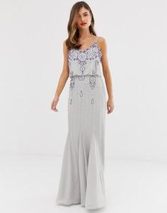 Декорированное платье макси Frock & Frill - Серый
