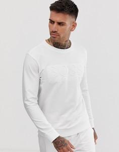 Белый свитшот с круглым вырезом и логотипом BOSS bodywear Heritage - Белый