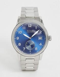 Серебристые часы BOSS 1513707 - Legacy - Темно-синий