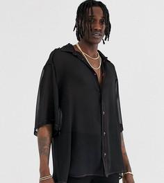 Черная прозрачная oversize-рубашка Heart & Dagger - Черный