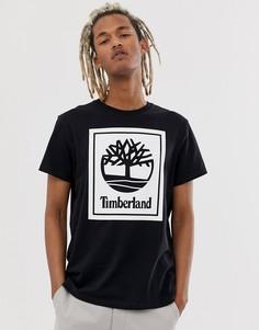 Черная футболка с круглым вырезом и принтом Timberland - Черный