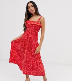 Платье макси в горошек Vero Moda Petite - Мульти