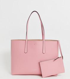 Розовая большая сумка-тоут Kate Spade - Розовый