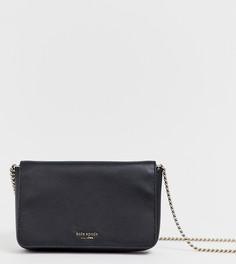Черная кожаная сумка через плечо с цепочкой Kate Spade - Черный