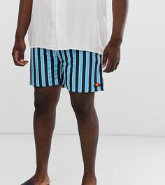 Темно-синие шорты для плавания в полоску Ellesse Plus Cozza эксклюзивно на ASOS - Темно-синий