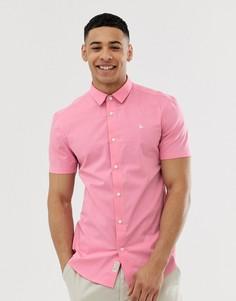 Розовая приталенная рубашка из поплина с короткими рукавами Jack Wills - Tencreek - Розовый