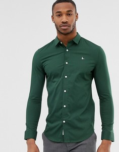 Зеленая приталенная рубашка Jack Wills Hinton - Зеленый