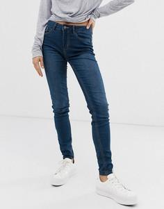Зауженные джинсы Pieces - Синий