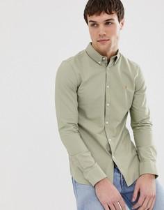 Оксфордская рубашка кроя слим Farah Brewer - Светло-бежевый