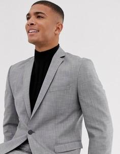 Серый приталенный пиджак Selected Homme - Серый
