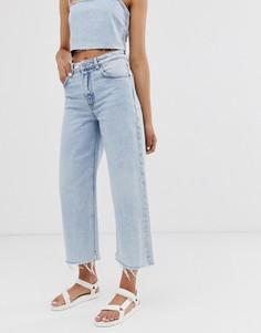Широкие джинсы с необработанными краями Cheap Monday recycled Ally - Синий