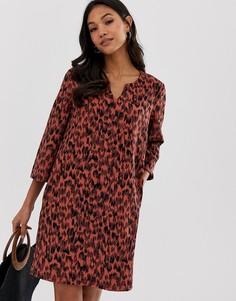 Цельнокройное платье с леопардовым принтом Vila - Мульти