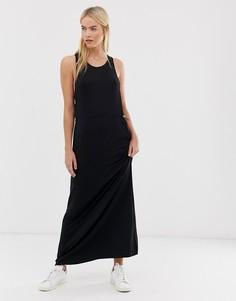 Платье из вискозы с эластичной талией Dr Denim - Черный