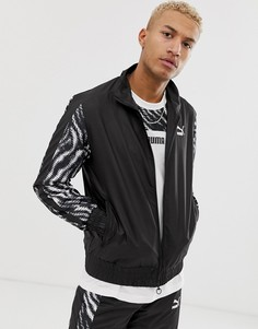 Спортивная куртка с принтом зебра Puma Wild Pack - Черный
