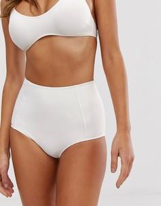 Белые плавки-бикини с завышенной талией Monki - Белый