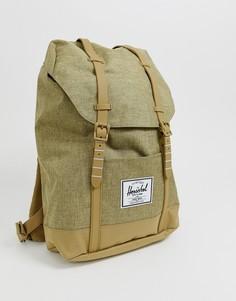 Рюкзак песочного цвета со штрихованным дизайном Herschel Supply Co Retreat, 19,5 л - Рыжий