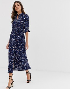 Платье-рубашка миди Vero Moda - Синий