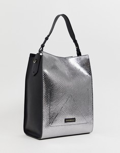 Серебристая сумка на плечо Emporio Armani - Мульти