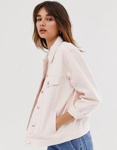 Выбеленная розовая джинсовая oversize-куртка Only - Розовый