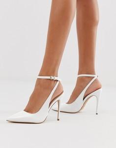 Белые кожаные туфли с острым носком и каблуком-шпилькой Aldo - Белый