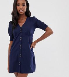 Платье на пуговицах Vero Moda Tall - Темно-синий