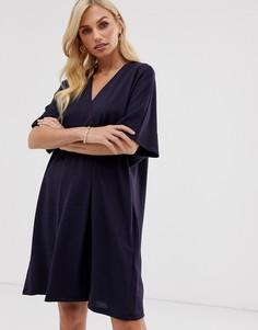 Свободное платье с запахом French Connection Frith - Темно-синий