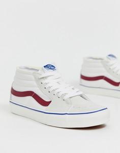 Белые средние кроссовки Vans Sk8 - Белый