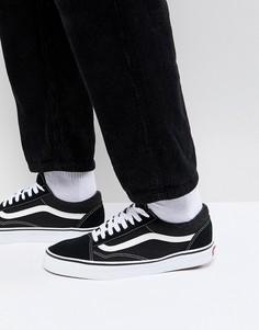 Черно-белые кроссовки Vans Old Skool - Черный