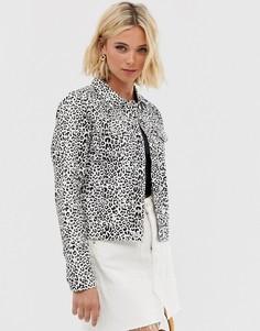 Джинсовая куртка с леопардовым принтом Parisian - Мульти