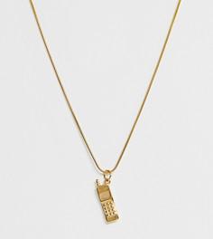 Золотистое ожерелье с подвеской Image Gang - Золотой