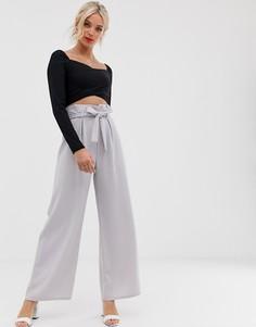 Широкие брюки Love - Серый