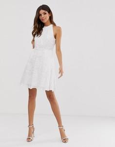 Приталенное платье с вышивкой Ted Baker Iorene - Белый