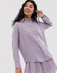 Клетчатая рубашка бойфренда от комплекта Daisy Street - Фиолетовый