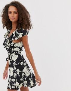 Платье с цветочным принтом Free People - French Quarter - Черный