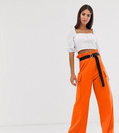 Кюлоты в стиле милитари с карманами и поясом ASOS DESIGN Tall - Оранжевый