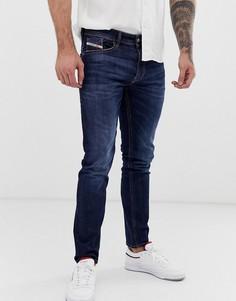 Темные стретчевые джинсы слим Diesel Thommer 082AY - Синий