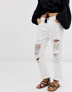 Свободные укороченные джинсы One Teaspoon Hooligans - Белый