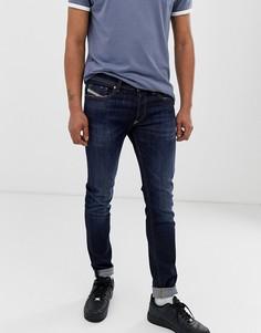 Темные эластичные джинсы скинни Diesel Sleenker X 083AW - Синий