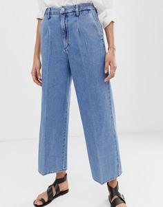Широкие укороченные джинсы Selected Femme - Синий
