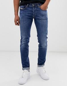 Выбеленные джинсы скинни Diesel - Sleenker X (069FZ - Синий