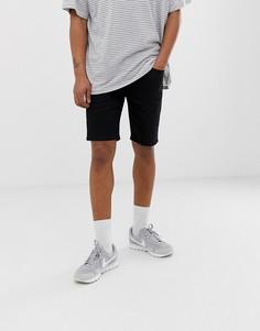 Черные джинсовые шорты River Island - Черный